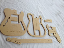 """72 Thinline Telecaster - Guitar Router Template Set - 25.5"""" Scale - CNC 1/2"""" MDF"""
