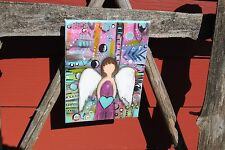 sisters love angel inspirational art loss survivor art faceless angel painting