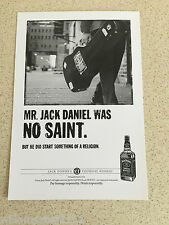 JACK DANIELS WHISKEY ADVERTISING SPIRIT POSTCARD (MR JACK WAS NO SAINT)