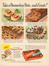 1960 vintage AD DROMEDARY Pitted Chopped Dates cookies cakes  041015