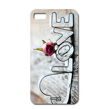 CUSTODIA COVER CASE CUORE ROSA LOVE PER iPHONE 5 5S S