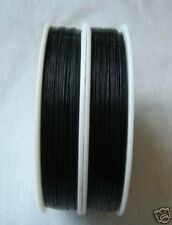 100 M BLACK Tiger Tail Nylon Coated Beading wire .38mm