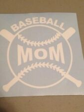 Baseball Mom Vinyl Window Decal, Car,Truck,laptop,funny,Sports,iPad