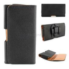 Black Holster PU Leather Belt Clip Case Pouch Cover Skin For Samsung Galaxy S5