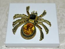 "New $160 HEIDI DAUS ""Heidee Long Legs"" Spider Pin Brooch SWAROVSKI CRYSTALS"
