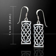 Celtic Knotwork .925 Sterling Silver Earrings by Peter Stone