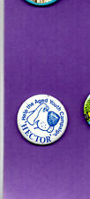 Hector The Dog - Help The Aged Youth Campaign - Button Badge 1980's