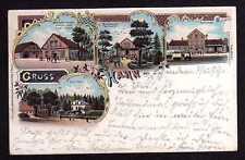 102095 AK Litho Hahn Oldenburg 1899 Bahnhof Post Agentur Hahner Hof