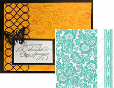 Cuttlebug Embossing Folders POPPY Anna Griffin folder set 5x7 Roses wedding leaf