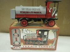 DIECAST ERTL F122- 1910 TEXACO MACK TANKER/BANK- BOXED- H66