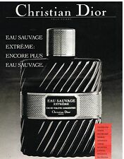 Publicité Advertising 1985 Eau de Toilette Eau Sauvage Christian Dior