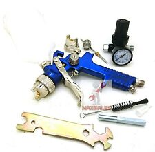 1.4mm & 2.0mm HVLP Air Paint Spray Gun w/ Gauge Auto Painting Automotive Shop