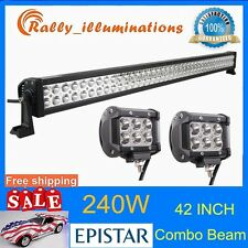 42'' 240W LED Work Light Bar Combo Offroad SUV Truck Driving 18W CREE 4WD 4''