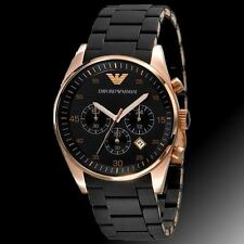 Emporio Armani AR-5905, Black Silicon Chronograph Watch For Men