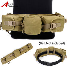 EMERSON Tactical Sniper Waist Pack Bag Airsoft Hunting Pouch Khaki for Duty Belt