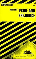 Pride and Prejudice by Austen, by Cliffs Notes Staff (1959, Paperback)