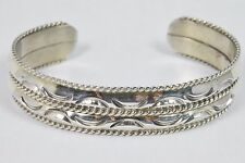 M.C. TSASIE Signed Navajo .925 Sterling Silver Cuff Bracelet (28.9 Grams)