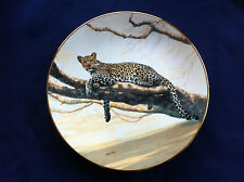 "W S George The Worlds Most Magnificent Cats ""African Leopard"" plate"