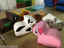 New 6  x Mini Animal soft play set Quality Foam ideal soft play add on