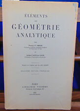 Smith Elements de géometrie analytique, 2eme édition...