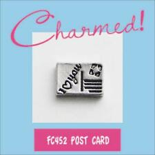LOTFC452 Charmed! I LOVE YOU POST CARD Charm 4 Living Locket & Origami Owl Stone