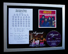 ARGENT God Gave Rock And Roll To You QUALITY CD FRAMED DISPLAY+FAST GLOBAL SHIP