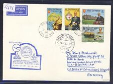 52646) LH LF Düsseldorf - Helsinki 6.4.97, cover GB / UK Isle of Man G.Goldie