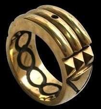 Sterling Silver Atlantis Ring Total 24K Gold Plated - All Sizes Anillo Atlante