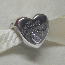 Authentic Pandora 791727CZ Friendship Heart Charm Box Included