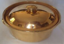 VTG Hall China Golden Glo #100 with 22kt Gold Finish Covered Casserole With Lid