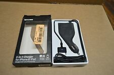 Incase Black 2 in 1 Charger for iPhone 3G / iPod 30 pin Connector EC20002