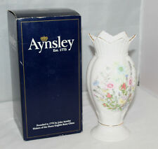 "Aynsley - Fine English Bone China - Wild Tudor - 8"" Vase - Boxed - VGC"