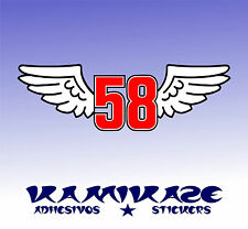 PEGATINA STICKER AUTOCOLLANT ADESIVI AUFKLEBER DECAL SIMONCELLI 58 WINGS
