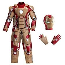 Disney NWT Iron Man 3 Deluxe Costume Kids Avengers size medium med 7/8 7 8
