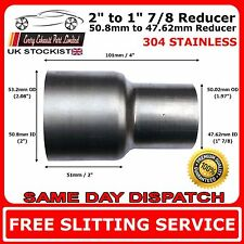50mm to 48mm Stainless Flared Standard Exhaust Reducer Connector Pipe Tube