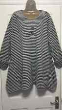 NEW ITALIAN LAGENLOOK PLUS SIZE SOFT BUTTON TUNIC MOCHA FIT 16 18 20 22 24 C605