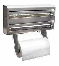 Master Class Stainless Steel Cling Film, Foil & Kitchen Roll Holder Dispenser