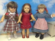 Pleasant Company American Girl Kirsten Molly  & Felicity  lot of 3 dolls