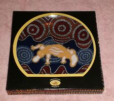 NIB Tobwabba Australian Aboriginal Worimi Art Decorative Plate ~ Great Gift !