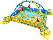 Happy Frog Pond Play Gym Mat with Safety Sides and Dangle Toys