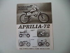 advertising Pubblicità 1973 MOTO APRILIA SCARABEO JUNIOR 50/BIMBO/COLIBRI'