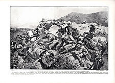 Boer War, New Zealanders Rescue Yorks-Reg Picket  . Scarce Military print 1900