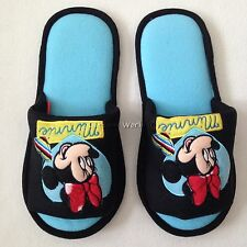 Disney Mickey Minnie Mouse Plush Slippers Shoes US size 6-10, UK 4-8, EU 36-42