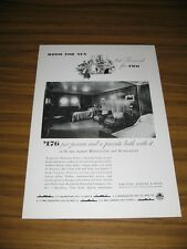 1933 Print Ad United States Lines Huge Cabin on Steamer Cruise Ship