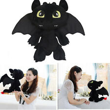 """How to Train Your Dragon 2 Toothless Night Fury Soft Plush Toy Dolls 12"""" Xmas"""