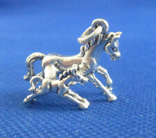 VINTAGE STERLING SILVER MOTHER AND BABY HORSE CHARM