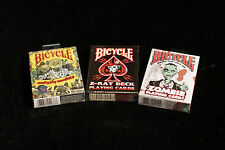 3 pk Zombie/Z-Ray Playing Cards Deck Horror Gross Scary Evil Dark Blood Bicycle