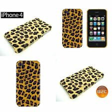 IPhone 4 4S Hard Case Cover Schutzhülle Leopard Leo in Gelb Braun