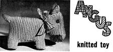 EASY SCOTTIE DOG / ANGUS - 8ply or DK - toy knitting pattern