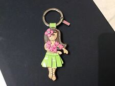 NEW COACH  LEATHER HAWAIIAN Hula Flower GIRL KEY FOB/KEY Ring #93159